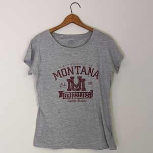 NWOT Montana grizzlies fitted t-shirt grey